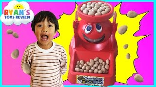 Family Fun Game for Kids Don't Spill the Beans Egg Surprise Toys Frozen Elsa Ryan ToysReview