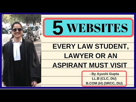 Top 5 websites every law student, lawyer & aspirant must visit and follow (Captions ON)