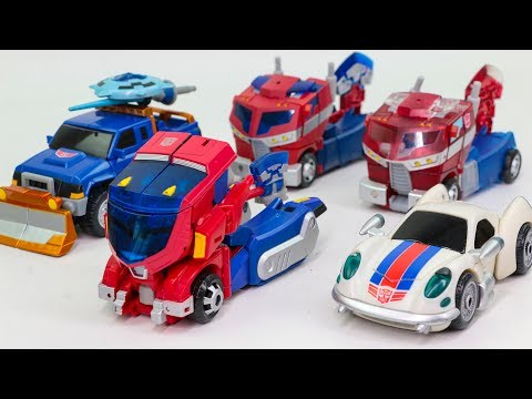 Transformers Animated Cybertron Optimus Prime jazz Sentinel Primeimus Vehicle Car Robots Toys