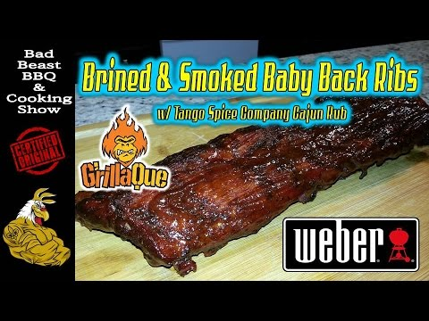 Brined & Smoked Baby Back Ribs on Weber Kettle | Grillaque
