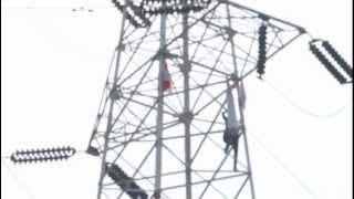 Pemanjat Tower Sutet Senayan