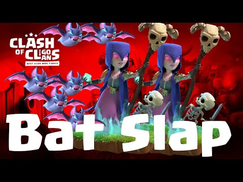 Witch Attacks against max TH12 | Bat Slap Queen walk + Witch + Bat Spell | COC 08/19 clash of clans