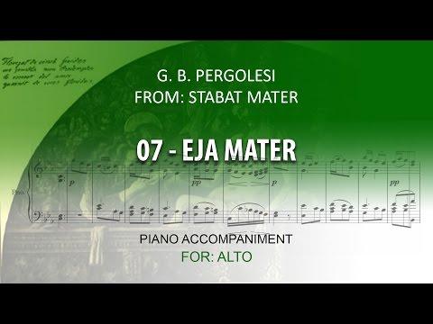 07 - EJA MATER Karaoke piano / G.B. PERGOLESI for ALTO