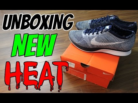 4d45446a11b8 UNBOXING  Nike Flyknit Racer  Blue Tint  2016 Full-In Depth Review ...