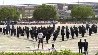 栄中学校 青ブロックの応援演技です。