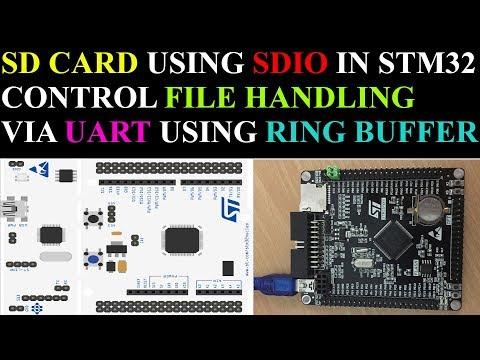 SD card using SDIO in STM32 || Uart RIng buffer || 4-Bit Mode