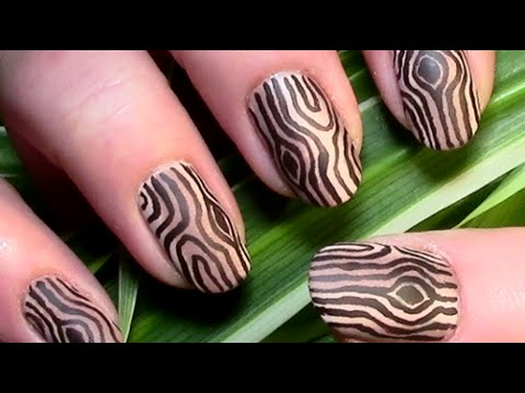 holz muster n gel nageldesign wood nails nail art design tutorial material nails youtube. Black Bedroom Furniture Sets. Home Design Ideas