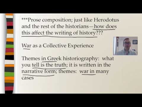 Historiography:  The Greeks