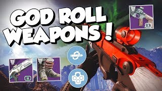My GOD ROLL Weapons and Armor! What Perks Should You Get? [Destiny 2 Forsaken]