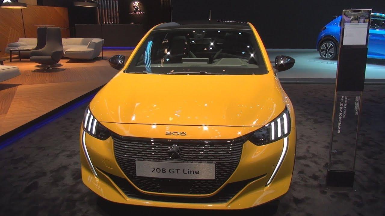 Peugeot 208 Gt Line Puretech 130 S S Eat8 Faro Yellow 2019 Exterior And Interior