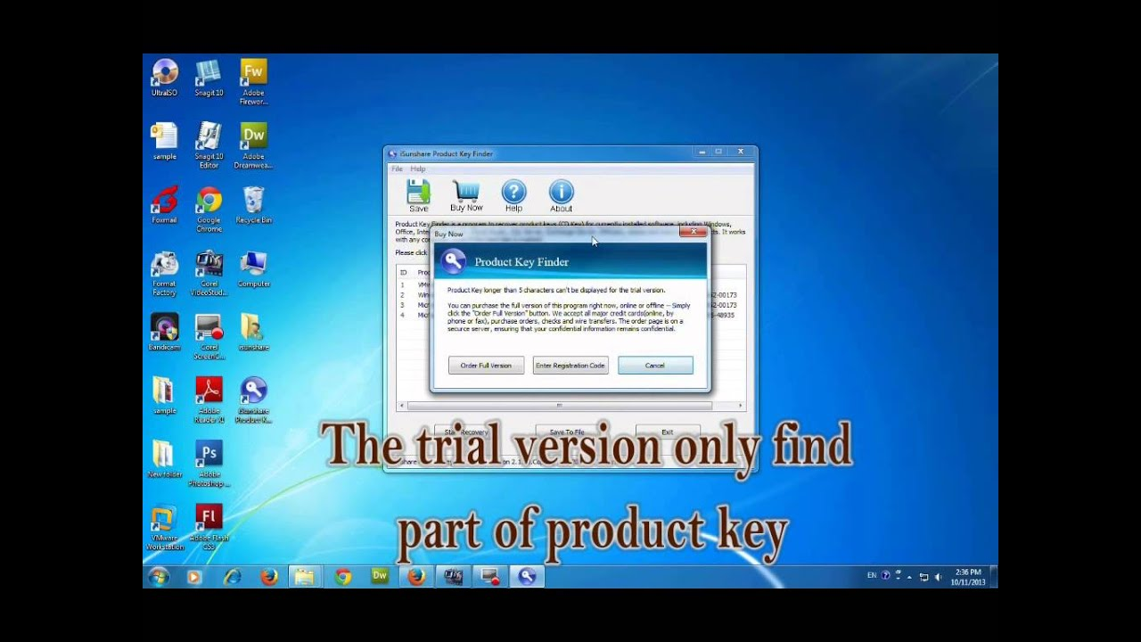 Find Windows 8/7 Product Key with One Click - YouTube