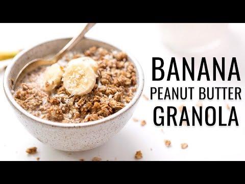 Life Changing Vegan Granola | w/ PEANUT BUTTER & BANANA