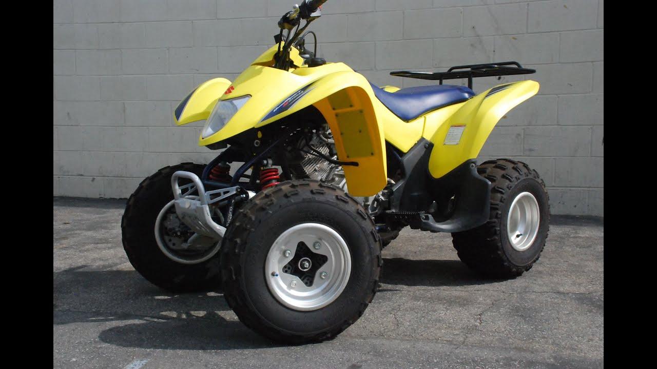 Obzor Kvadrocikla Suzuki Quadsport Z250 Youtube