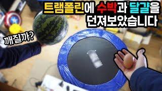 Trampoline vs Watermelon & Egg ! - Heopop