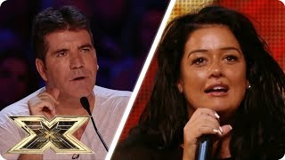 SHE HAS A FALSE START?! | The X Factor Unforgettable Auditions