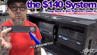 The $140 Sound System - Auto Cooled Amp Rack & Magnetic Box Platform 2004 Honda Accord (Video 4)