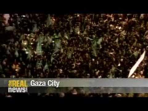 Palestinians break out of Gaza