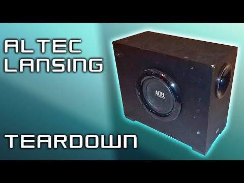 TEARDOWN - Altec Lansing VS2721 2.1 system subwoofer (Easy-medium difficulty)