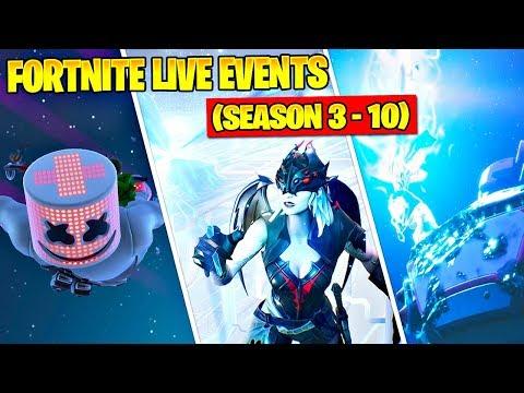 All Fortnite Live Events And Cinematics (Season 3 – Season 10)