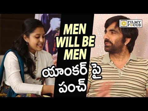 Ravi Teja Mind Blowing Punch to Kaumudhi in Live Interview - Filmyfocus.com