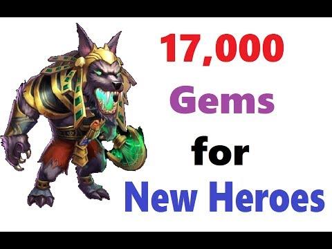 17k Some Lucky Gem Rolls For New Heroes Gunslinger Anubis Trixie Treat Castle Clash Latvietisss