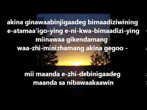 Ojibwe 7 Teachings Songs- Honesty.wmv