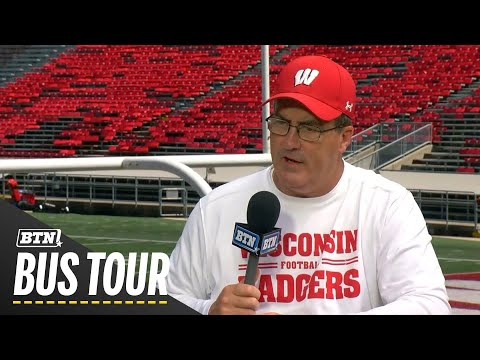 Wisconsin Badgers - The BTN Bus Tour Rolled Into Madison Thursday