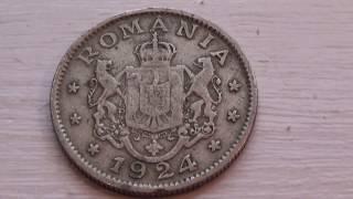 A 1924 Romania 1 Leu Coin