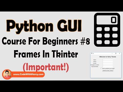 Frame In Tkinter | Python Tkinter GUI Tutorial In Hindi #8