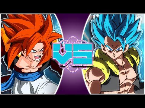 GOGETA BLUE vs GOGETA SSJ4! (Dragon Ball Super vs Dragon Ball GT) - REWIND RUMBLE - 동영상