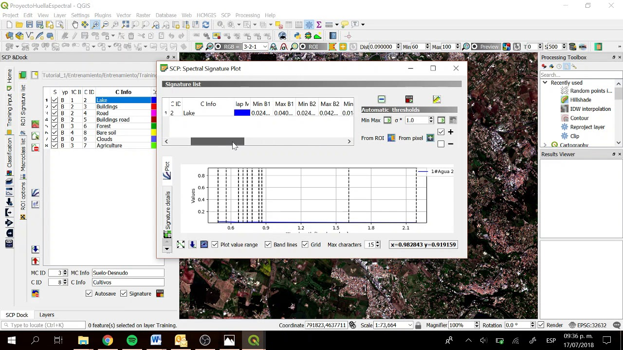 Land cover spectral signatures determination with QGIS 3 and SCP 6 -  Tutorial