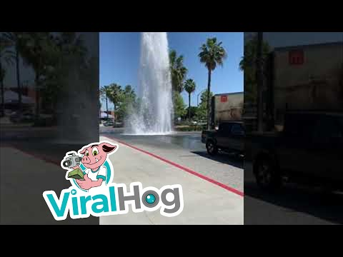AJ - People Got Free Car Washes From a Busted Fire Hydrant
