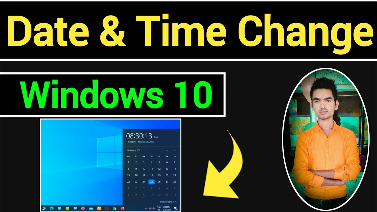 How To Change Date And Time In Windows 10 | Date And Time Change In Windows 10