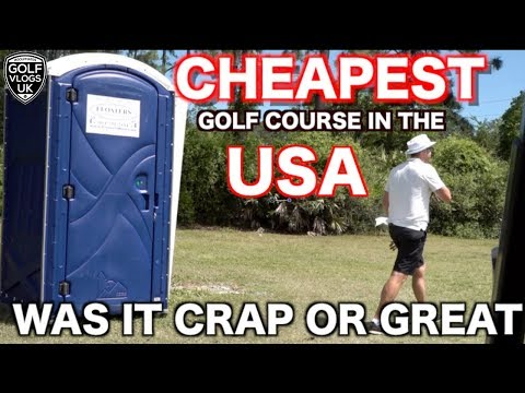 CHEAPEST GOLF COURSE  IN THE USA 33 DOLLARS AND BUGGY