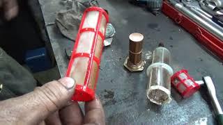 Мерседес W 126 3 0 Д замена сетки  топливоприемника и доработка кулис АКПП