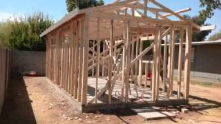 HOW TO BUILT A SHED OR WORK ROOM; COMO CONSTRUIR UNA BODEGA O CUARTO DE TRABAJO.