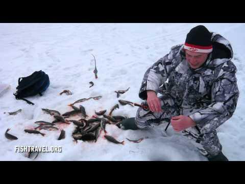 подледная ловля на озерах видео