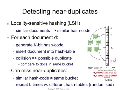 LSH.8 Locality-sensitive hashing: the idea