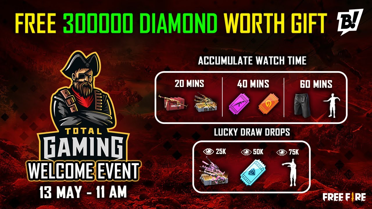 Free Fire Free Diamond Emote, Voucher and Free Gun Skin Event On Booyah Live - Garena Free Fire