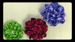 كيف تصنع ي وردة جميلة  معجنة من الساتان باللون المناسب لملابسك