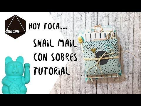 Tutorial Snail mail con sobres