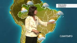 Previsão Brasil – Chuva continua na costa do ES e NE