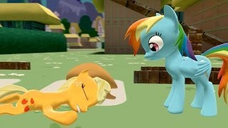 Applejack is helping RainbowDash