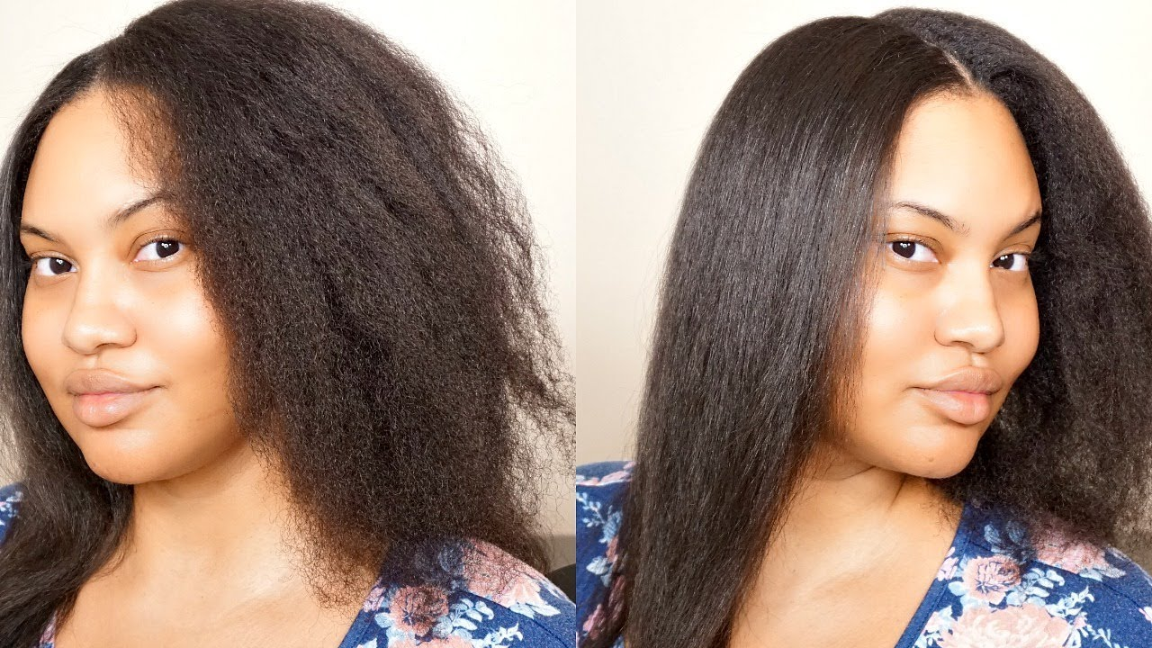 Strip iron out of hair