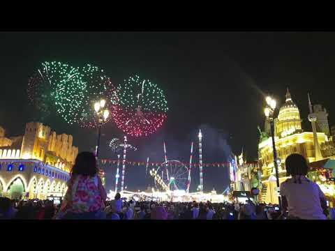 Global Village Fireworks... Uae National Day 2018