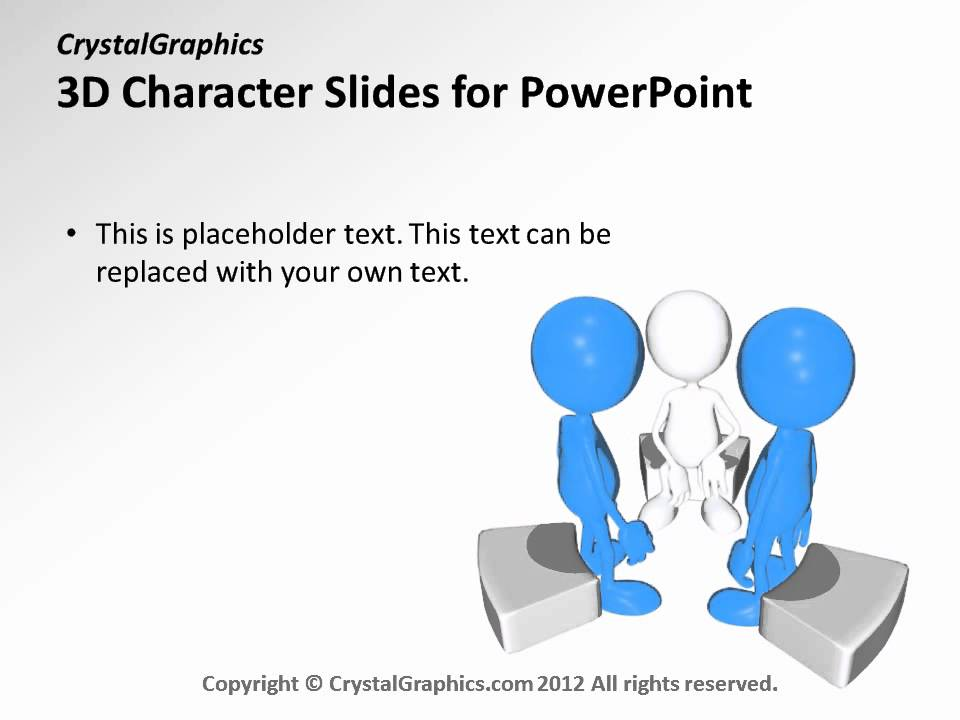 crystalgraphics 3d character slides for powerpoint - team sharing, Powerpoint templates