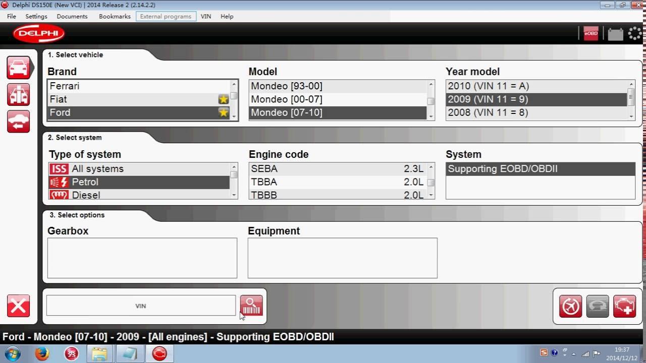 software setup denonstration for delphi ds150 ds150e youtube. Black Bedroom Furniture Sets. Home Design Ideas