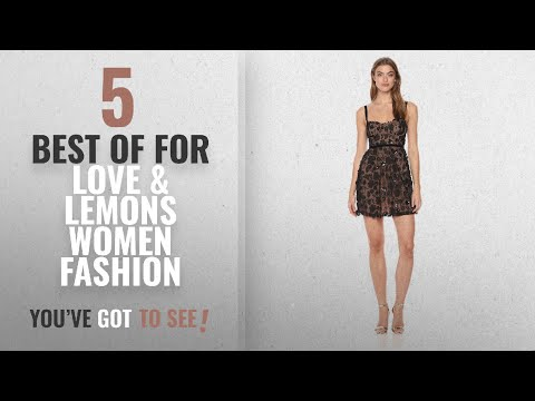 For Love & Lemons Women Fashion [2018 Best Sellers]: For Love & Lemons Women's Beatrice Strappy Mini