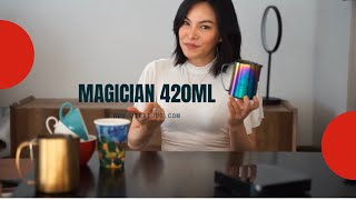 THE MAGICIAN, this design 420ml size is a medium size jug fit 8oz and 12oz