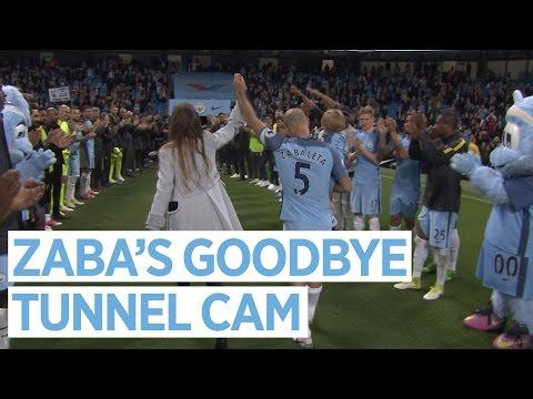ZABA'S GOODBYE | Tunnel Cam | Man City 3-1 West Brom